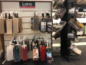Ställ med textilprover från Lano